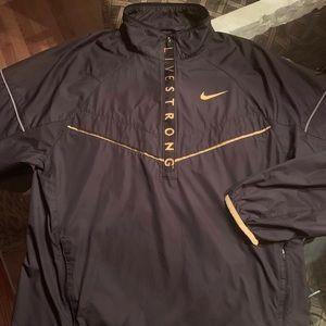 Nike LIVESTRONG Black windbreaker, size M